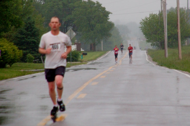cows, running, forward, rain, injury