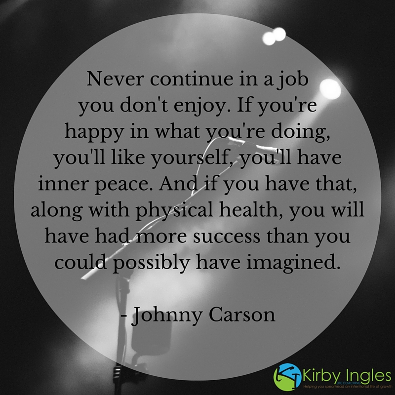 workspace, happiness, peace, health, success, Johnny Carson, happy