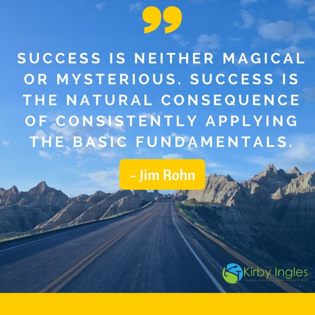Success is neither magical or mysterious. Success is the natural consequence of consistently applying the basic fundamentals. - Jim Rohn